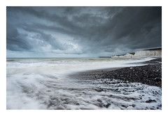 Storm Clouds Over Birling Gap (Edd Allen) Tags: sea seaside seascape sky atmosphere atmospheric buclic serene uk england britain nikon d810 clouds sunrise eastsussex southeast wave storm tide nikkor70200mm landscapephotographeroftheyear newhaven newhavenharbour winter abstract water wind lpoty birlinggap