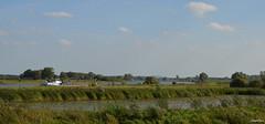 LANDSCAPE (JaapCom) Tags: jaapcom landscape clouds boat revier rever water natuur dutchnetherlands holland green zalk overijssel