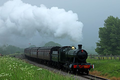 2807 - Cheltenham (Andrew Edkins) Tags: gloucestershireandwarwickshirerailway 2807 28xxclass greatwestern gwr cheltenham gloucestershire england uk travel trip passenger preservedrailway steamgala overcast clouds canon steamtrain railwayphotography