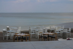 Varna - In the Seaside Alley (lyura183) Tags: bulgaria българия varna варна sea blacksea черноморе table chair cafe restaurant