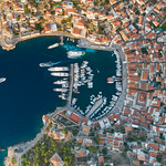 Aerial of Hydra Greece thumbnail