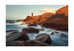 Shadow and Light (MagiCshoot) Tags: lumiere light shadows ombre ploumanach lighthouse phare sea mer rock rocher océan sky ciel cote d600 nikon bretagne cotedarmor longexposure