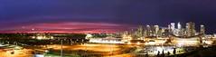 Calgary Sunset Panorama (1) (John Andersen (JPAndersen images)) Tags: alberta calgary city colours elbowriver evening fall panorama skyline