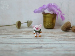 84-Piglet 10mm (2) (tinyteensdolls) Tags: amigurumi crochet craft crochetmini crochetminiature crochettoy toy tinyamigurumi tiny threadcrochet miniature mini microcrochet micro minicrochet miniamigurumi small handmade pig piglet 10mm