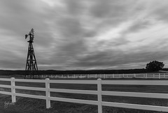 Long exposure at the windmill (gary_photog) Tags: milvus2818 zeissmilvus18 zeisslens zeiss manualfocus longexposure bw blackandwhite monochromatic leefilters leeirnd lee15stopnd sky clouds windmill