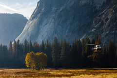 Helicoter Landing in Ahwahnee Meadow (Jeffrey Sullivan) Tags: national park fall colors photography workshop yosemitenationalpark yosemitevalley yosemitevillage mariposacounty california usa nature landscape travel night photographer canon eos 5d mark iv photo copyright 2018 jeff sullivan october yosemite