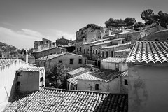 Old Town (Johnners61) Tags: tossademar tossa spain espania catalunya catalonia oldtown vilavella town old historic ancient house houses village blackandwhite mono mood moody olympuspen pen microfourthirds micro four thirds olympus mft m43 roofs