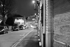 When the night comes (Guillaume DELEBARRE) Tags: street rue canon 5dmarkiv 50f12 wideopen largeaperture simple minimalism minimalist blackandwhite bw noiretblanc monochrome city dof light mood ambiance atmosphere urban bokeh f12