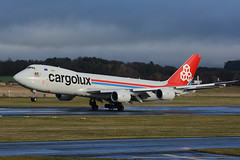 LX-VCA Boeing B747-8R7F EGPK 24-12-15 (MarkP51) Tags: lxvca boeing b7478r7f b7478 b747 jumbojet cargolux cv clx prestwick airport pik egpk scotland airliner aircraft airplane plane image markp51 nikon d7100 sunshine sunny aviationphotography nikon70200f4vr cargo freighter