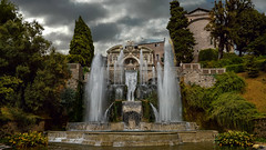 The Villa d'Este (Sworldguy) Tags: tivoli italy gardens villadeste fountain water tourism renaissancegardens europe terraced unesco villa park travelphotography sonya73 wideangle fontanadinettuno italia classic clouds