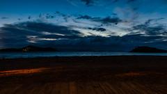 8182  Under the Boardwalk (foxxyg2) Tags: sundown sunset bluehour night blue clouds sky sea aegean boardwalk niksoftware dxo define2 le longexposure