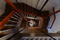 Downtown Stairs (picsessionphotoarts) Tags: saturdayforstairs mittelfranken bayern treppe treppenhaus spiralstaircase architektur patterns farben colors sony sonyphotography sonyalpha6500 ilce6500 fürth kleeblattstadt e1018mmf4oss vintage vintagestaircase leuchten