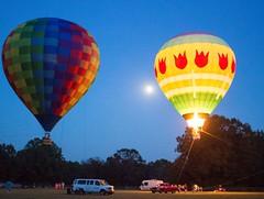 Ballons & Moon (Stuart Borrett) Tags: ballon outside moon sky athens georgia night fire