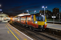 707009 - Clapham Junction - 29/09/18. (TRphotography04) Tags: south western railways swr 707009 stands ta clapham junction with 2u60 1844 windsor eton riverside london waterloo