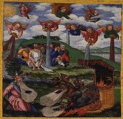 The final apocalyptic plagues - the Seven Bowls of God's Wrath are poured on the world (Revelation 15:1 - 16:21) (bibleblender) Tags: apocalypse revelationbookof sevenbowls thebeast thedragon thefalseprophet weather