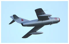 """MIG-15UTI """"RED 18"""".... (Ciaranchef's photography.) Tags: mig15 mig militaryaviation militaryjets classicjets 50sjets mikoyan russianaircraft russianmilitary russianhardware norwegianhistoricalsquadron nikond7000 nikonaviation tamron150600"""