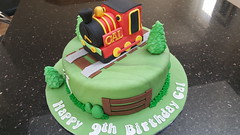 Train cake (Victorious_Sponge) Tags: steam train cake happy birthday railway boys green red black yellow
