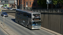 Scoring Spares (londonbusexplorer) Tags: reading buses scania n94ub east lancs omnidekka 801 yn54aep f1 station madejski stadium football shuttle bus