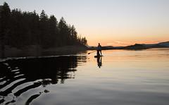 paddleboard sunset (tesseract33) Tags: tesseract33 nikon light art sea ocean water waterfront reflections peterlang comoxphotographer nikond750 copelandislands marineparks