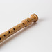 Long Wooden Flute With White Background