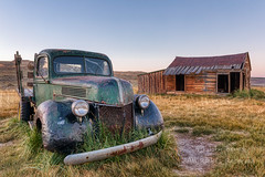 Old Truck and Shack (saganorth2000) Tags: grass california decrepit truck bodie decaying bodiestatehistoricpark weathered building exterior