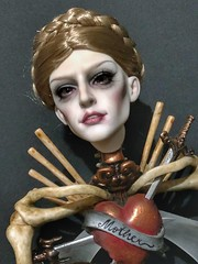 Mother & Son (Sadomina) Tags: charmdoll bjd doll abjd balljointeddoll sadomina creepy skeleton steampunk horror eerie scary darkart art artdoll