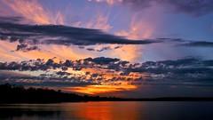 Dusk in Minnesota (Bob's Digital Eye) Tags: bobsdigitaleye canon clouds dark dusk efs24mmf28stm flicker flickr lake lakesunsets october2018 reflection sky skyline skyscape sunset sunsetsoverwater t3i laquintaessenza