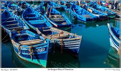 Les barques bleues d Essaouira (MarcEnGalerie) Tags: vacances voyage barque morocco maroc essaouira mar