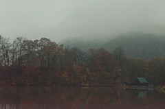 Returning (Denisa Mikulášová) Tags: nikon nikond5100 slovakia slovensko europe lake forest nature fog melancholy fall autumn