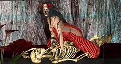 Douce Toussaint (ℰżιℓι) Tags: psychobarbie pulse salt conviction cx leluck appearance avatar bento catwa diadelmuertos fashion gothic halloween maitreya messiahxshi roses secondlife skeleton skull stealthic swallow apparel