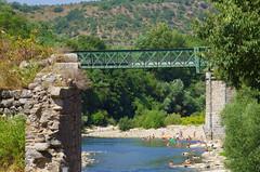 80 - Ardèche - Vogüé le pont (paspog) Tags: france ardèche vogüé août august 2018 pont brücke eisenbrücke pontmétallique ironbridge bridge