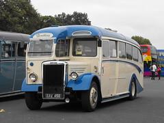 EAV 458, Leyland PS11 Tiger, Duple C35F, 1948 (t.2018) (Andy Reeve-Smith) Tags: leyland tiger ps11 duple eav458 showbus 2018 showbus2018 doningtonpark donington castledonington derbyshire derbys leicestershire leics coach northern