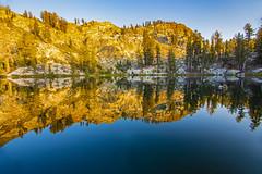 BareIslandLake9Sept1-18 (divindk) Tags: bareislandlake california maderacounty sierranationalforest backpacking camping granite lake quiet reflection serene sunlight sunset