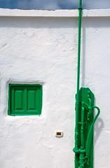 Green and White / Verde y Blanco (López Pablo) Tags: green white window pump wall lacaleta elhierro canary islands urban nikon d7200