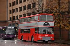 Preserved Highland Scottish B892 UAS (J364S) | 2018 GVVT Open Weekend Shuttles | North Hanover St, Glasgow (Strathclyder) Tags: highlandscottish highland scottish leyland olympian onlxb1r alexander rl b892 uas b892uas j364s north hanover street glasgow scotland j8 stagecoach ribble stagecoachribble 2216 14216 abus bristol evansofbristol gvvt bridgeton