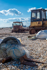Industrial Detritus (daveseargeant) Tags: bull dozers rubbish detritus industrial seaside sea coast dungeness kent nikon df