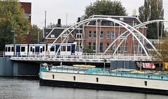 Over de Dam (Peter ( phonepics only) Eijkman) Tags: amsterdam city gvb trapkar bn tram transport trams tramtracks trolley detour omleiding rail rails strassenbahn streetcars nederland netherlands nederlandse noordholland holland
