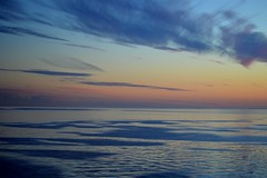 Gulf of Finland Sunset (Seventh Heaven Photography *) Tags: gulf finland water sea sunset dusk sky clouds nikon d3200 orange blue reflections