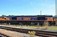 66756 (stavioni) Tags: class66 shed gbrf gb railfreight diesel railway train locomotive