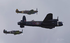 The Battle of Britain Memorial Flight (NeilHallPix) Tags: ww2 aircraft vintage planes spitfire hurricane lancaster airshow duxford
