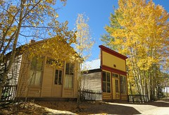 Side Street (Patricia Henschen) Tags: chaffeecounty sawatch range mountains mountain aspen autumn fall color gold silver mine mines mining ruins ghosttown stelmo mtprinceton chalkcreek nathrop colorado canyon sanisabelnationalforest leafpeeping fallcolor county road backroad clouds countyroad162 chaffee commercial building store