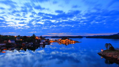 Herdla 13. mai -18 20sec f16 (bjarne.stokke) Tags: askøy norway norge norwegen noreg naust natt hordaland herdlafjorden langlukkertid skyer solnedgang speiling sunset
