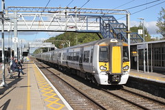 Abellio Greater Anglia . 379004 . Cheshunt Station , Hertfordshire . Friday 28th-September-2018 . (AndrewHA's) Tags: railway station cheshunt abellio greater anglia class 379 379004 bombardier electrostar electric multiple unit 1b59 stansted airport liverpool street london express passenger train