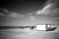 Meeting at the beach (kuestenkind) Tags: dänemark lökken strand beach bench bank langzeitbelichtung longexposure