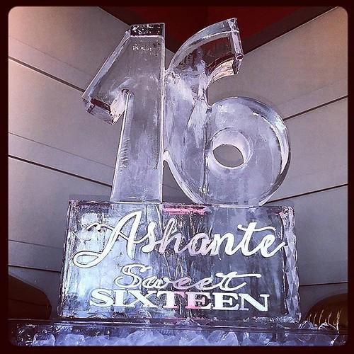 Celebrating a sweet #birthday @noahseventvenue #happybirthday Ashante! #fullspectrumice #thinkoutsidetheblocks #briliant - Full Spectrum Ice Sculpture