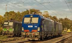 02_2018_10_15_Wanne_Eickel_Üwf_6193_275_ELOC_6193_495_BLSC_495_6193_725_ELOC (ruhrpott.sprinter) Tags: ruhrpott sprinter deutschland germany allmangne nrw ruhrgebiet gelsenkirchen lokomotive locomotives eisenbahn railroad rail zug train reisezug passenger güter cargo freight fret herne wanne eickel wanneeickel üwf 6193 blsc eloctxl blau himmel outdoor logo natur wolken