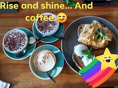 Rise and shine... and coffee (avlxyz) Tags: ifttt facebook coffee breakfast eggs toast