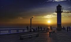 Nieuwpoort Pier (glessew) Tags: zonsondergang sunset nieuwpoortbad pier jetty noordzee merdunord nordsee sea mer meer zee vlaanderen westvlaanderen belgië belgique