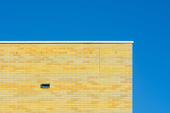 Wall with yellow bricks (Jan van der Wolf) Tags: map19086v wall muur bricks bakstenen simple simpel minimalism minimalistic minimalisme minimal minimlistic geometric geometry geometrisch geometrie