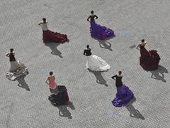Outdoor Flamenco (RobertLx) Tags: bilbao bilbo bizkaia basquecountry pavement sidewalk dance dancing flamenco woman people dancer art culture spain españa euskadi city europe basque movement